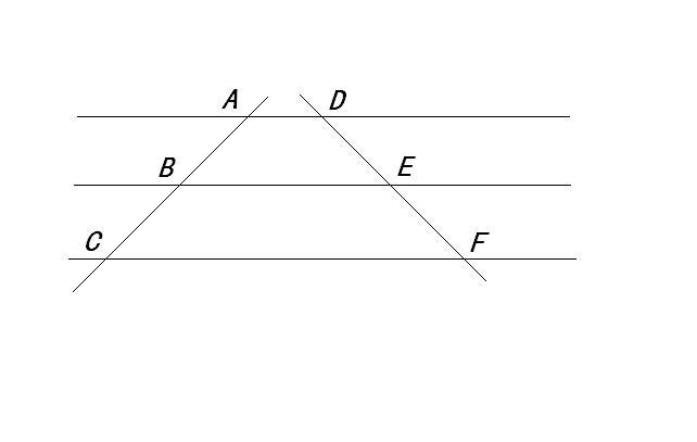三角形平行线段成比例