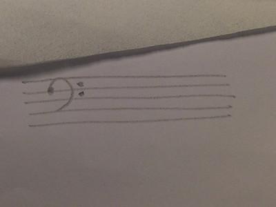 五线谱的低音谱号怎么看?图片