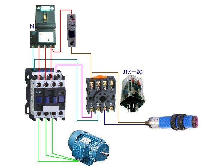 交流接触器接线图 220v交流接触器接线图 交流接触器工作原理图片