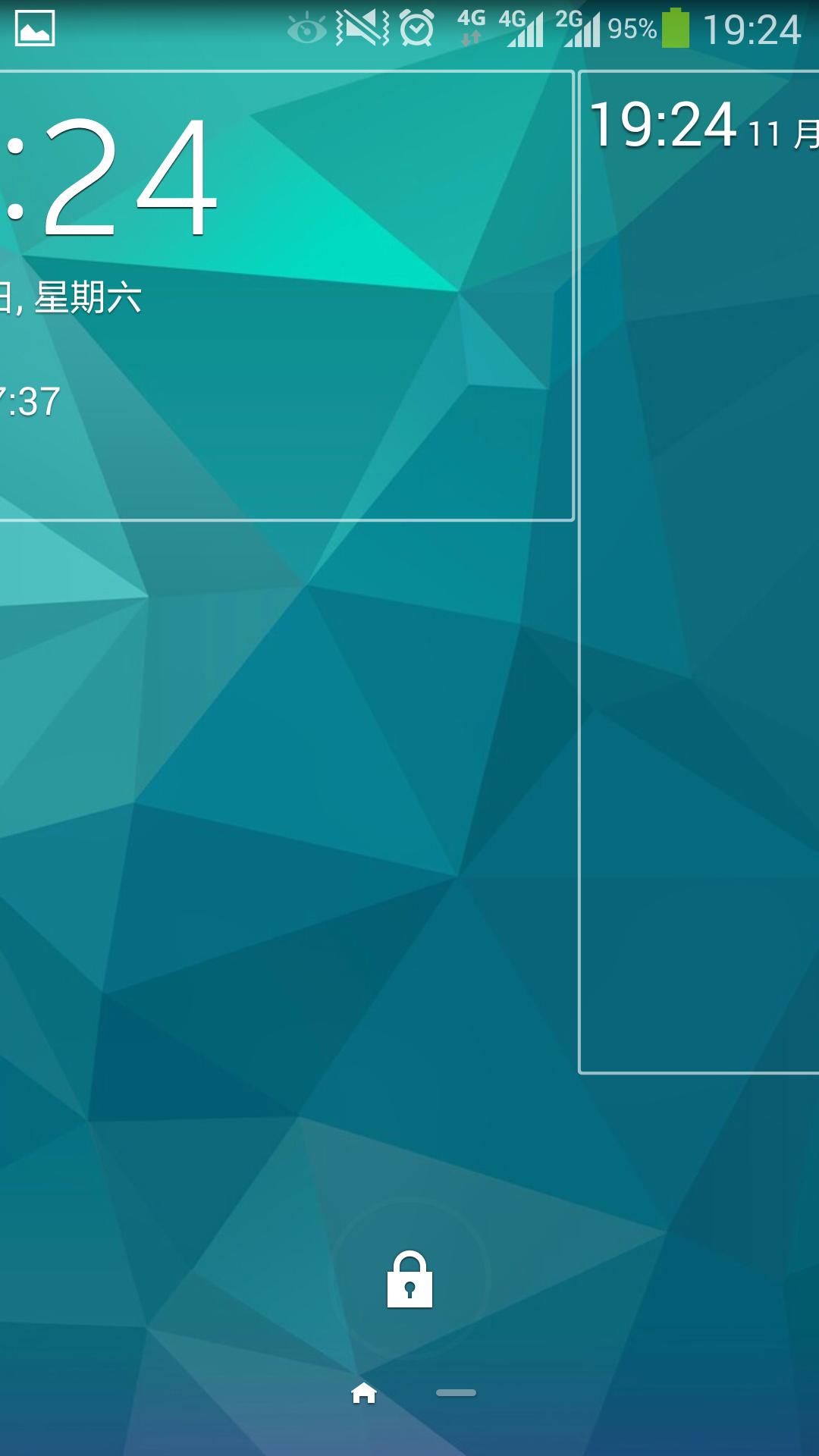 三星note3锁屏界面自己变了, 不知道怎么调回来