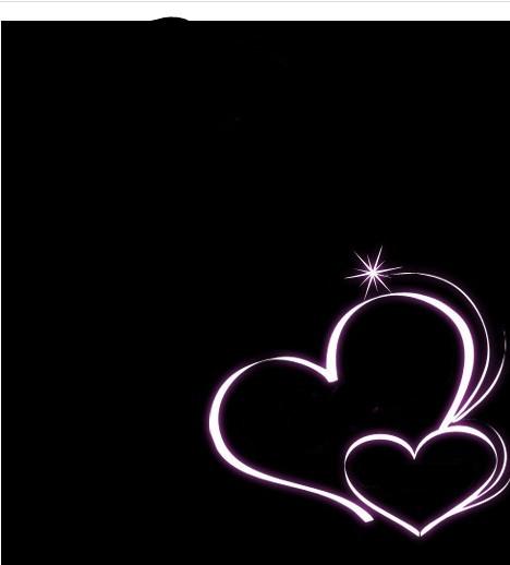 用美图秀秀如何去掉黑色背景 只去图片的两个爱心边框图片