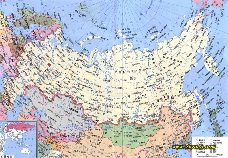 俄罗斯位于欧亚大陆北部,地跨欧亚两大洲,国土面积为1707.图片
