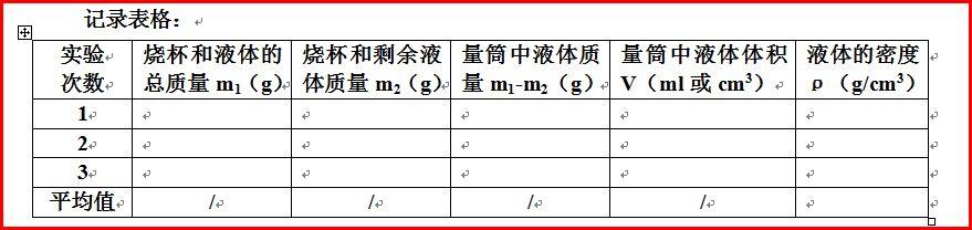 初中物理密度测量方法