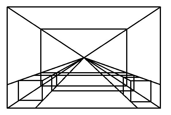 这图的一点透视怎么画?这是个厨房.图片
