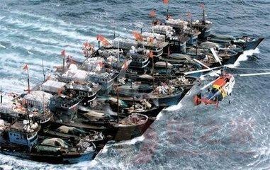 韩国扣留中国渔船
