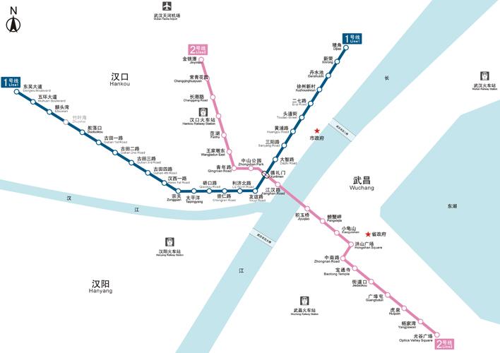 2015武汉地铁线路图 武汉地铁1号线路线图-长沙地铁1号线线路图