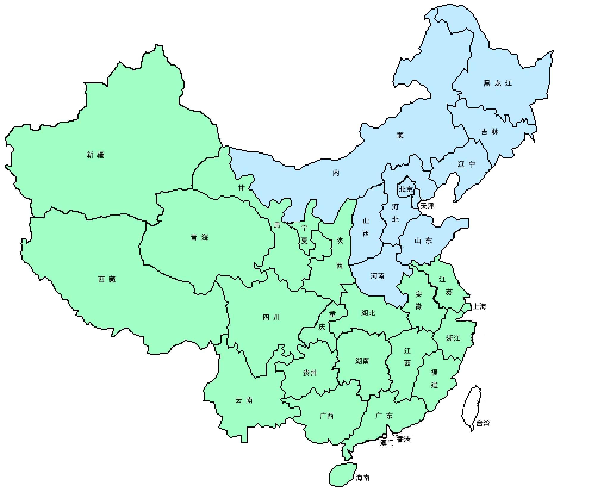 幼儿园手工制作中国地图示图 高清图片