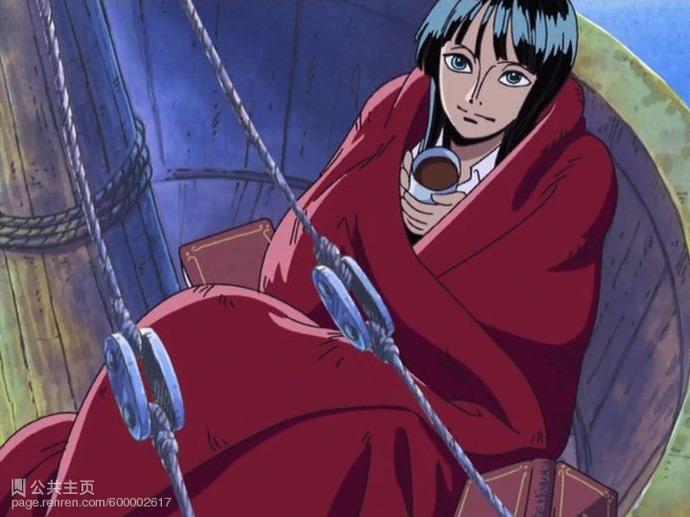 求海贼王卡莉法和罗宾的图片
