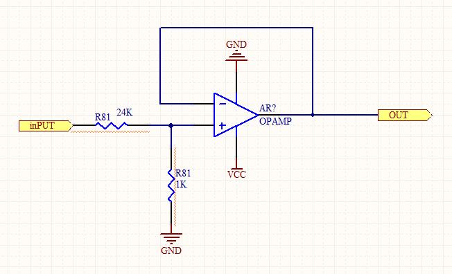 常用电压跟随器芯片_请问下面这个图是电压跟随器吗?