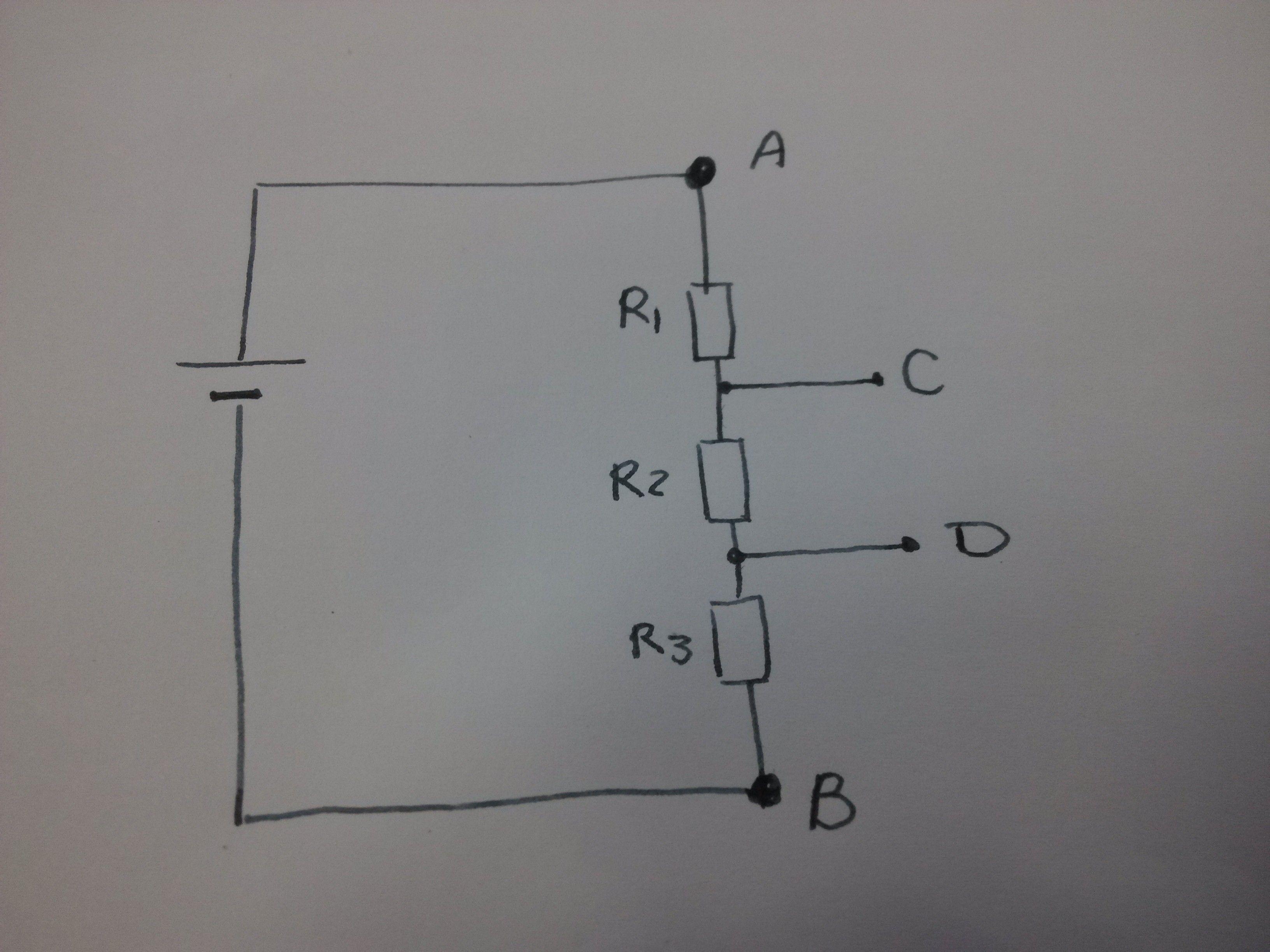 电路中两点间电压高