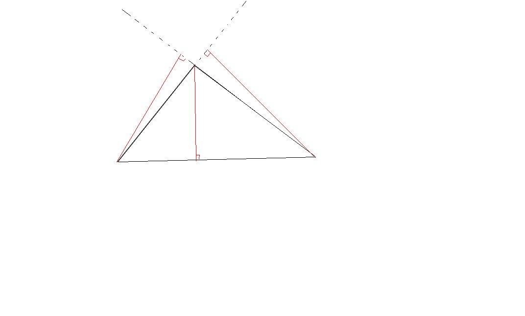 钝角三角形的高怎么画 尺规作图图片