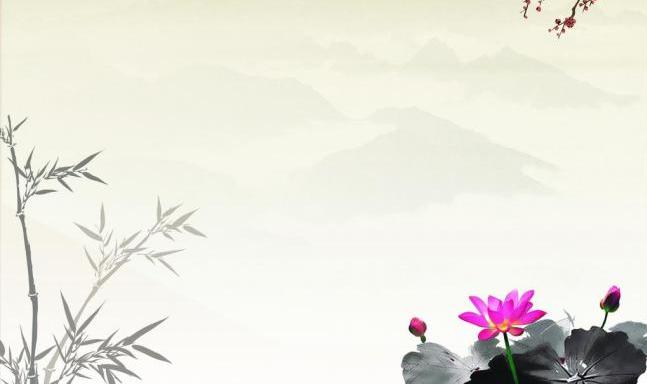 水墨古风淡雅背景图图片
