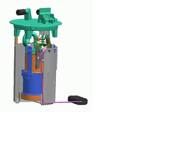 图片中是汽车汽油泵支架总成,里面包含一个电子油泵泵芯 高清图片