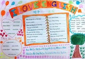 二年级下册英语手抄报介绍妈妈一小段