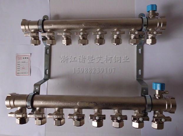 地热的分水器有个排气嘴 这个排气嘴的 直径是多少? 我要配个小管子!图片