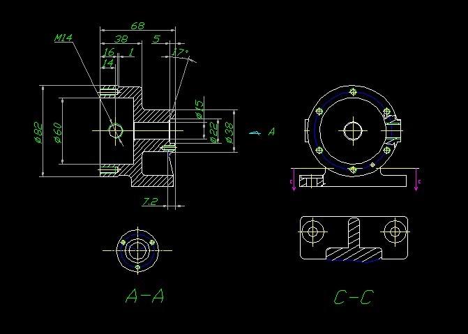机械制图角度旋转 机械制图 机械制图基础知识 cad机械制图