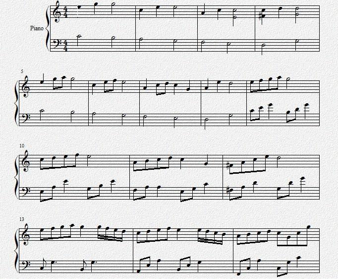超级好听的钢琴曲!下面有谱子的!图片