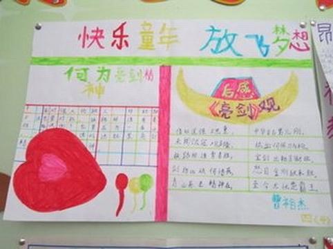 快乐童年彩色梦想手抄报内容  快乐童年彩色梦想手抄报 关于七彩童年