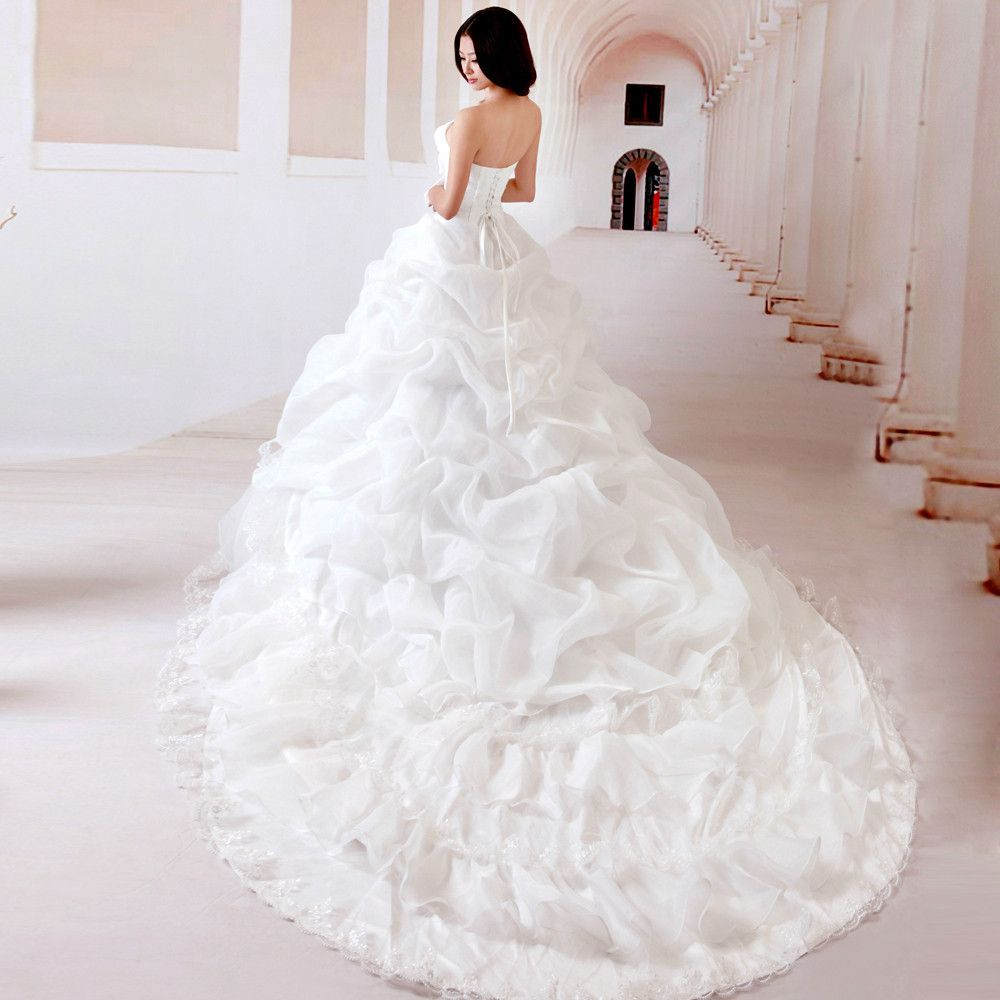 红色拖地婚纱图片 儿童婚纱裙拖地图片 拖地长裙婚纱紫色