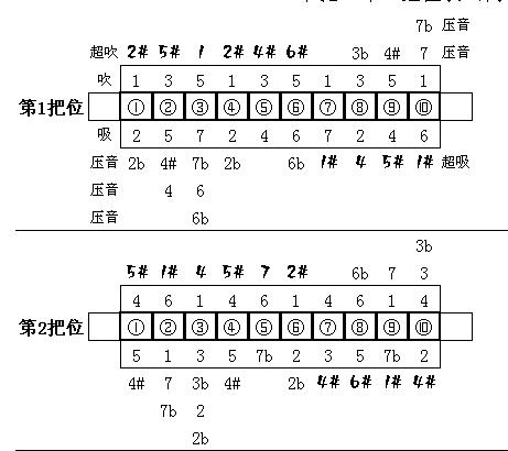 10孔布鲁斯口琴半音问题图片