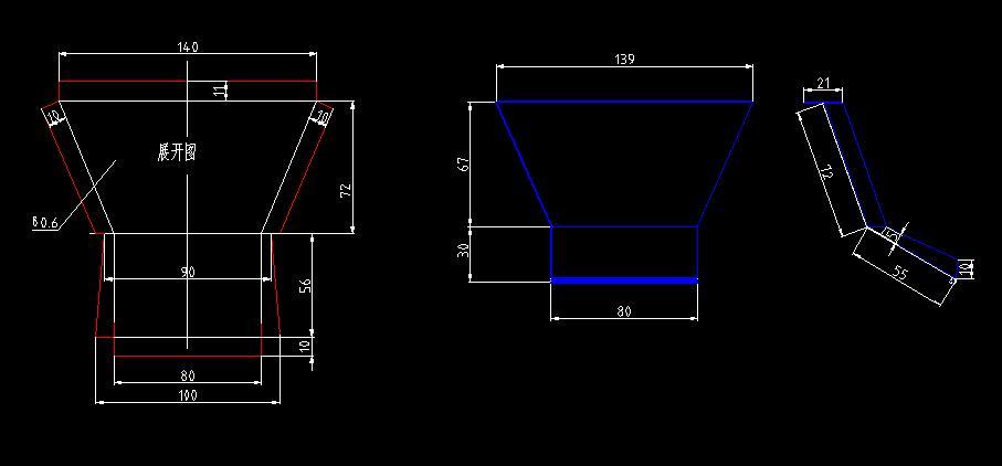 机械制图的三视图中可以画展开图吗图片
