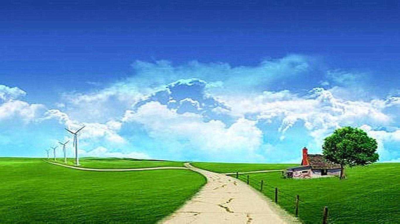 跪求xp草原桌面壁纸,有例图(1366x768,258k)-大草原壁纸 大草原图片
