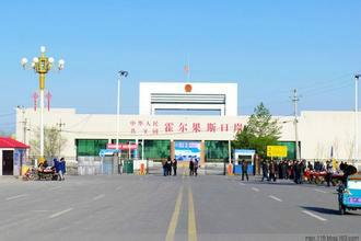 新疆与俄罗斯交界处