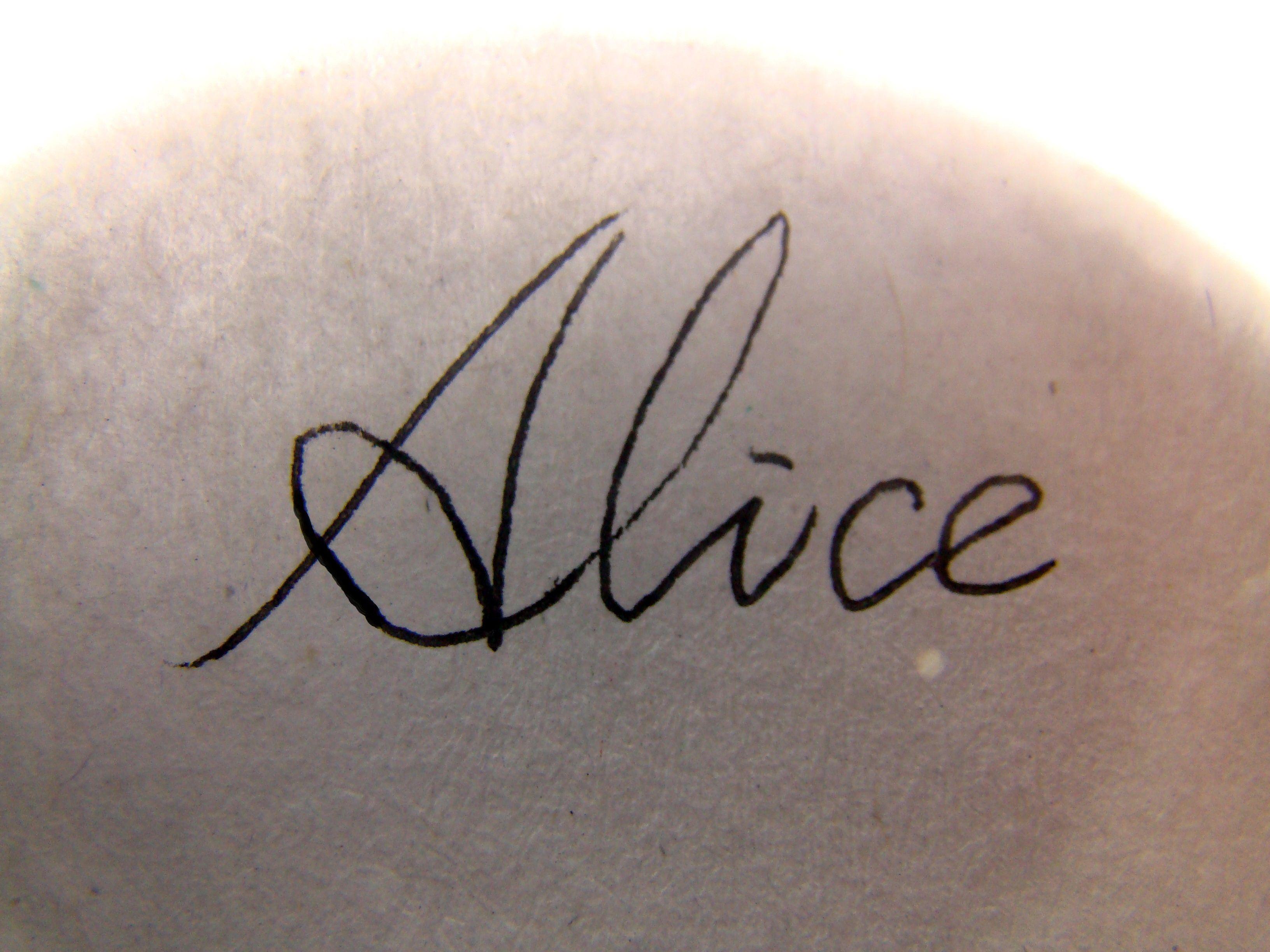 英文名alice怎么写出来最漂亮?图片