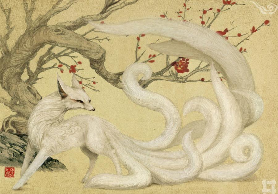 山海经异兽图里有九尾狐吗 百度知道