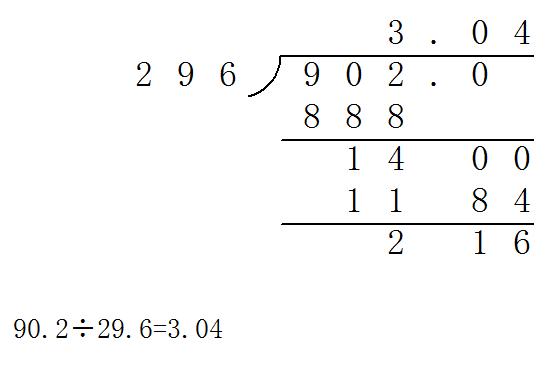 90除以6的列式计算