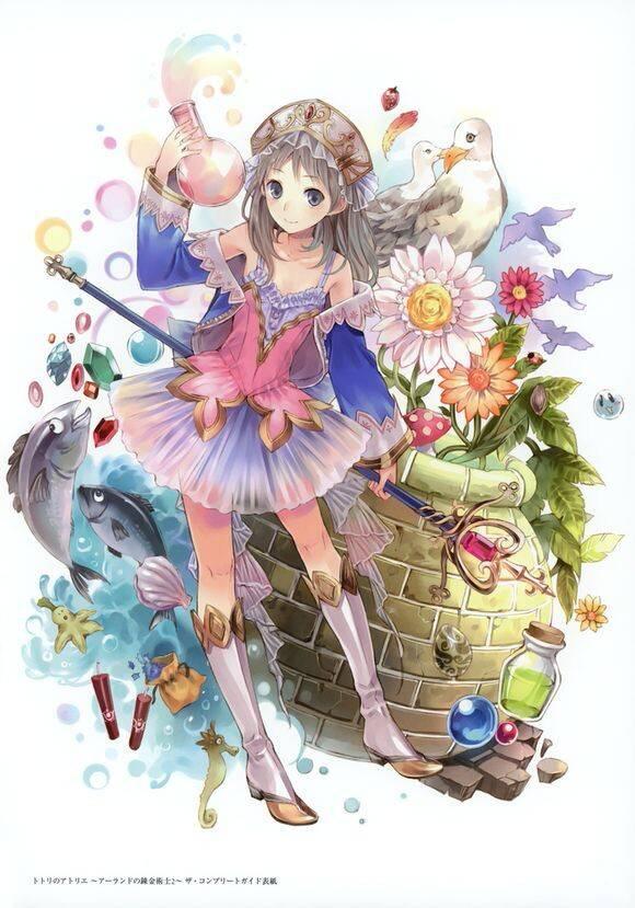 唯美的关于花的动漫美少女图片