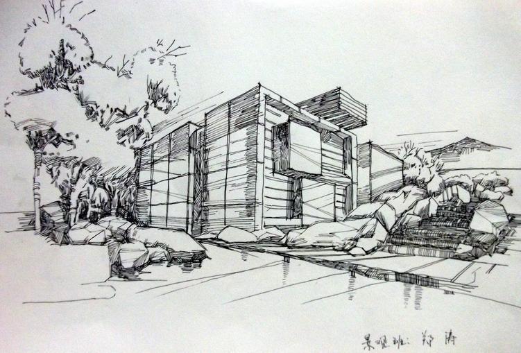 建筑速写的画有哪些简单图片的图片