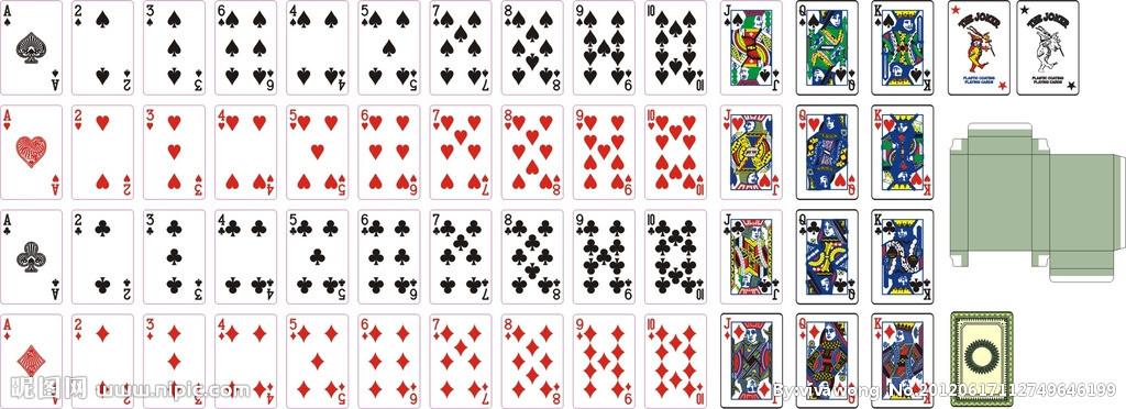 扑克牌共有几种花色_谁有扑克花色的素材的矢量图