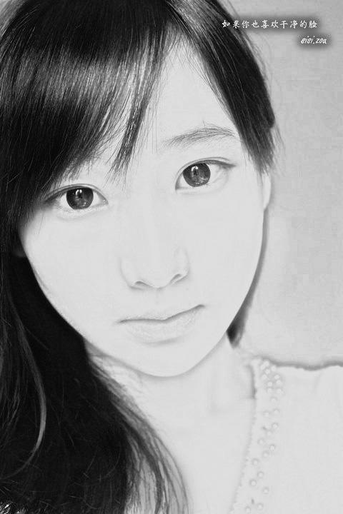 的铅笔画美女图片