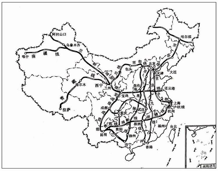 中国铁路路线中国煤炭铁路运输主要线路图以及相关高清图片