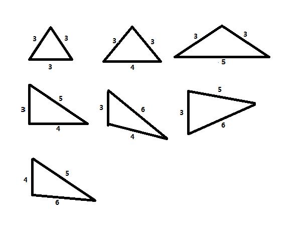 请学霸给解一下探索园的第一题,可以摆出几种不同的三角形?谢谢了图片