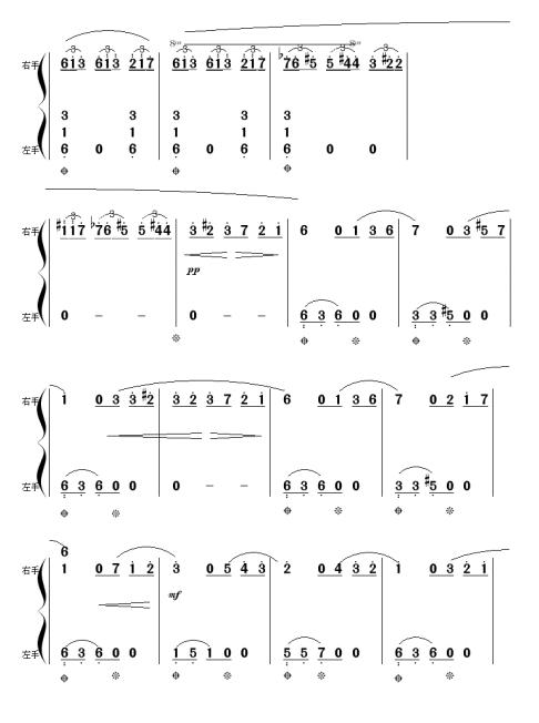 献给爱丽丝钢琴简谱单手的适合初学者的图片