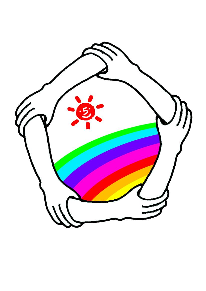 5 我有更好的答案 1条回答 应该寓意着团结,画着太阳和彩虹应该是想图片