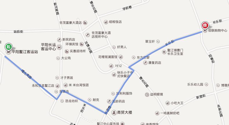 温州到鳌江_想知道: 温州市 从平阳鳌江客运站到佰联购物中心怎么