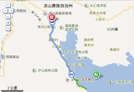 邛海到泸沽湖有多远