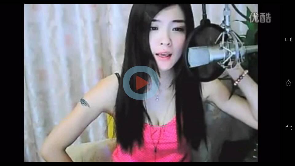 的视频截图 这个视频标题是qq美女视频翻唱