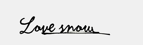 love snow连笔怎么写图片