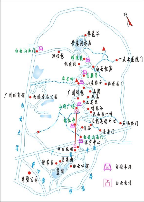 小珠山景区内路线图
