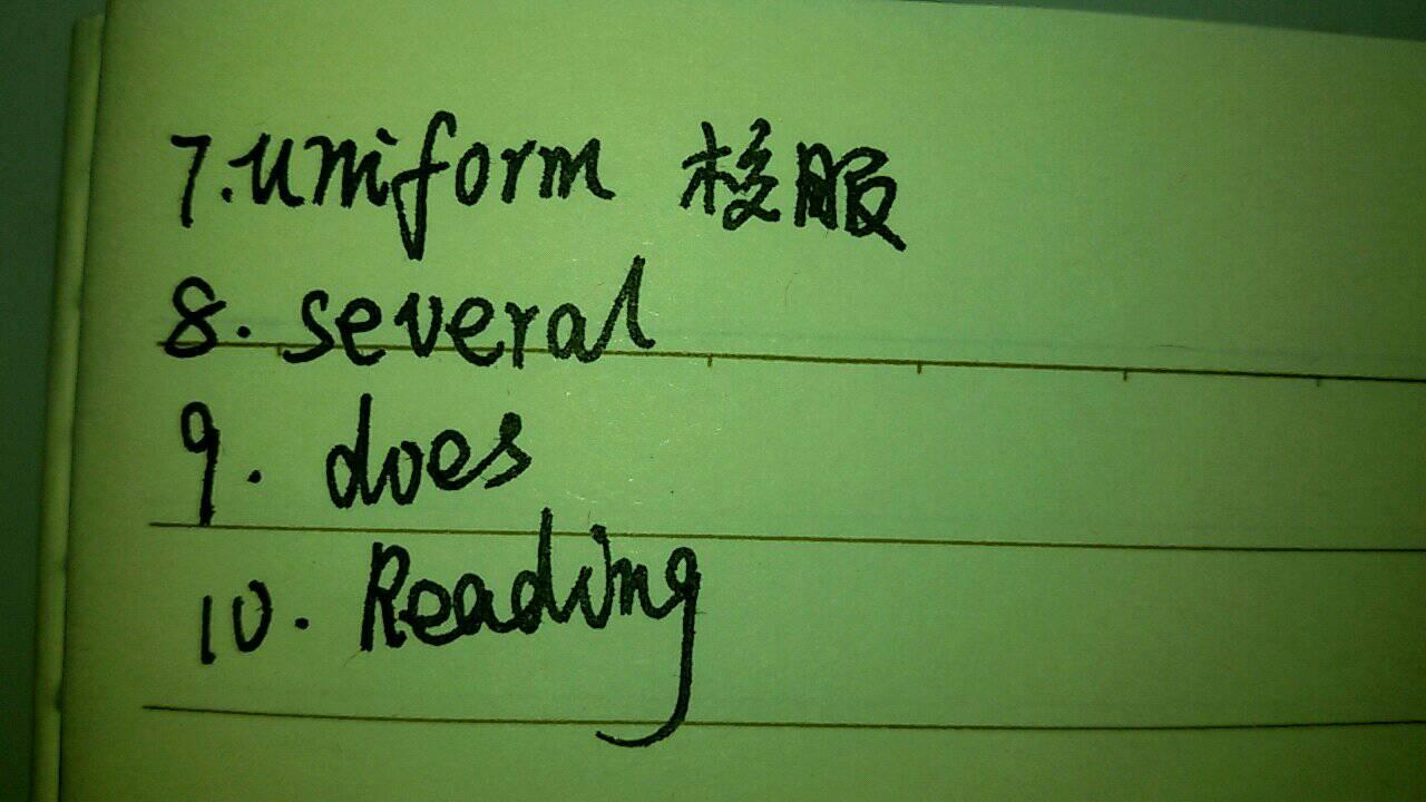 初一英语单词填空图片
