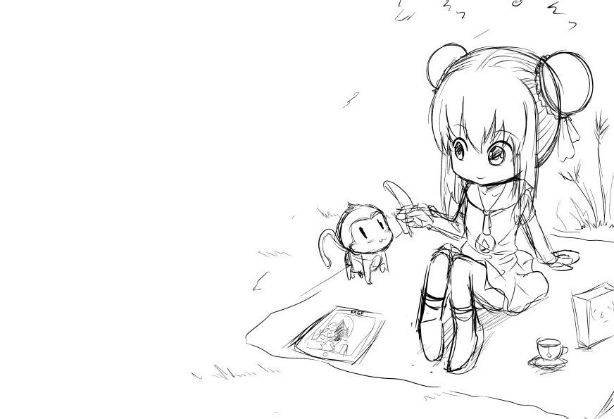 人坐在椅子上简笔画