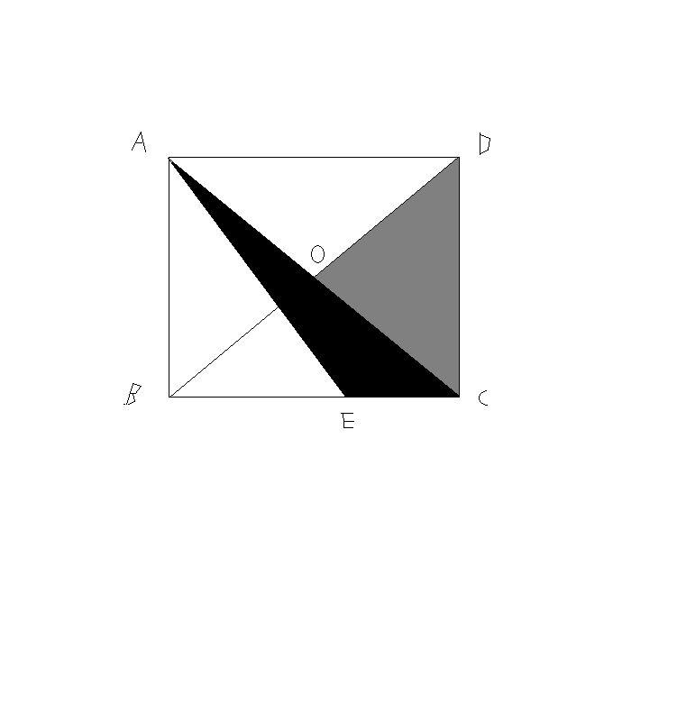 如图 正方形abcd中,be=2ec,三角形boc的面积是6平方厘米,求阴影部分图片