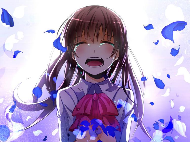 求卡通女孩大哭的图片