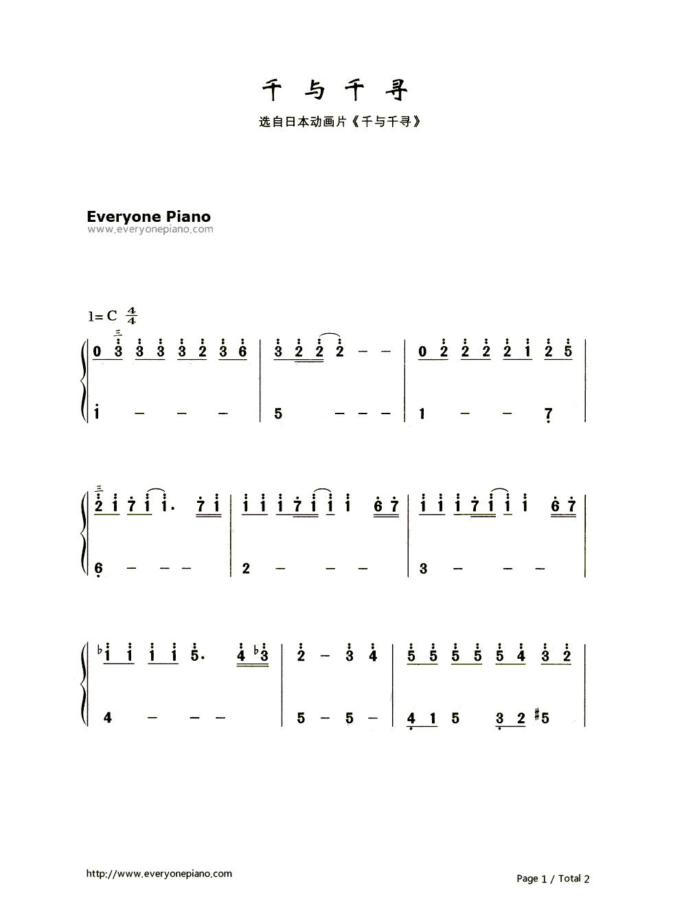 day的電腦鍵盤鋼琴曲譜圖片
