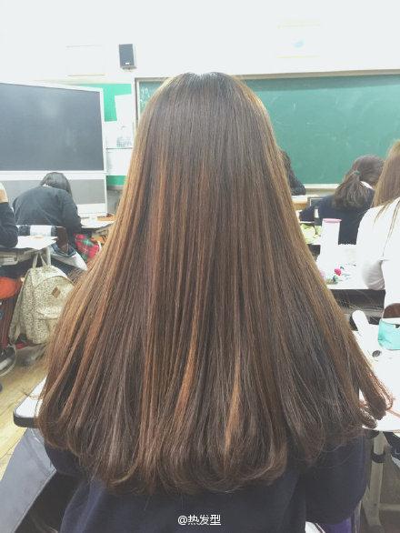 梨花烫 中长发烫发发型图片 内扣发型图片中长发