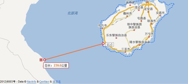 海南到越南多少公里